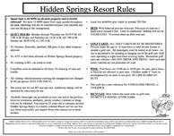 Hidden Springs Rules